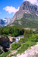 Glacier National Park, Trees, Mountains, Streams, Waterfalls